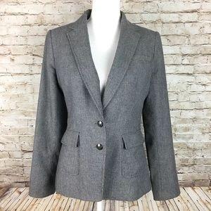 Banana Republic 2 button blazer sz 6 gray